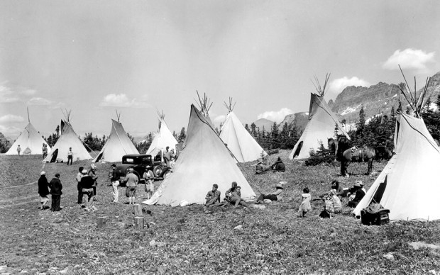 Salish Indian Camp