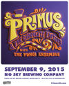 Primus announces Big Sky Brewing concert; Snowbowl sets music series