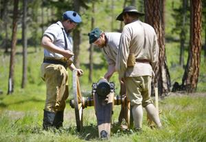 Burning powder at the Sapphire Mountain Man Rendezvous
