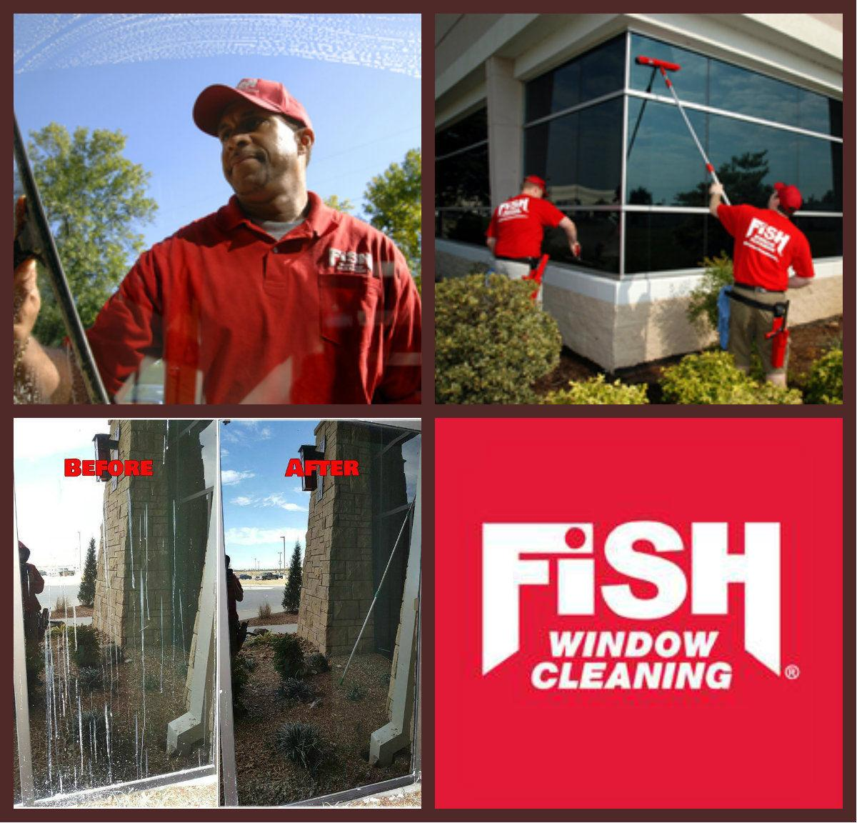 Fish window cleaning cleaning ground level storefronts for Fish window cleaning