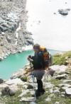 Jennifer Lyman overlooks the Rearguard Glacier