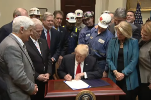 Trump signs repeal of clean stream law