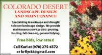 Colorado Desert Landscape Design