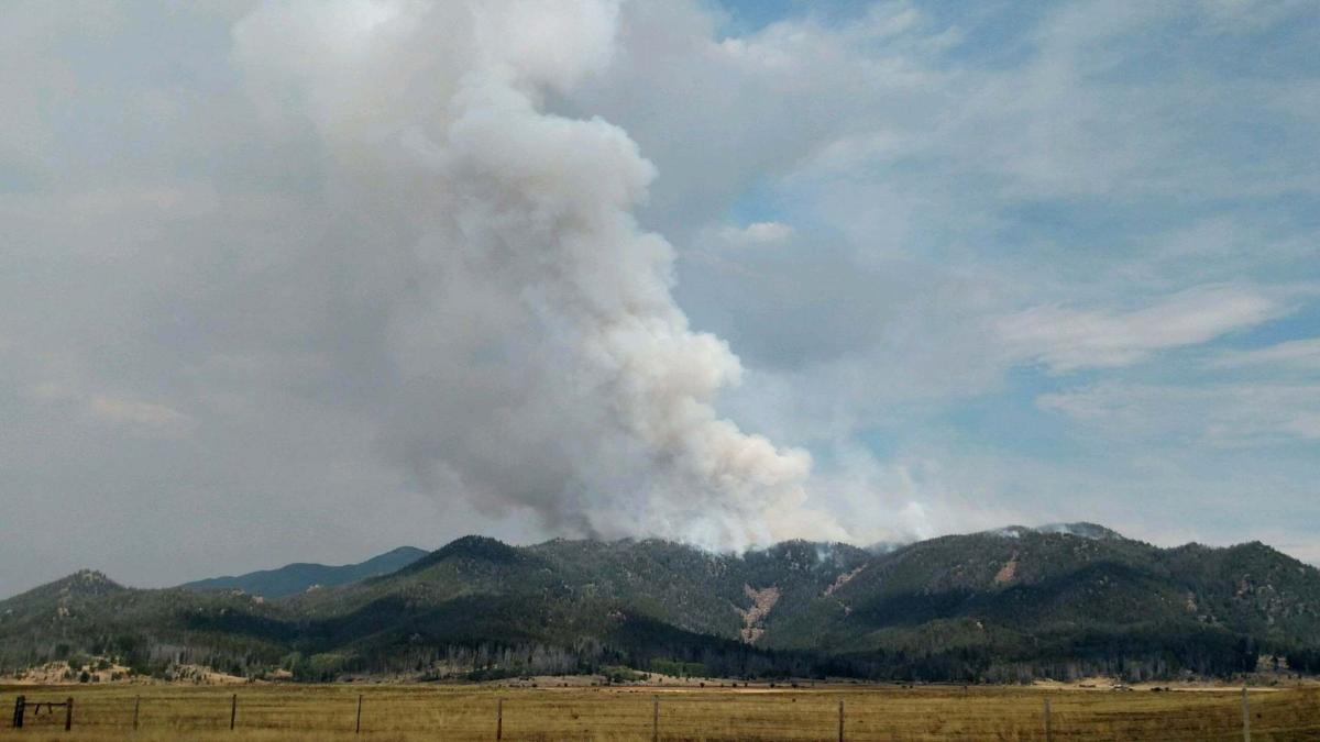 Column of smoke from Nez Perce Fire