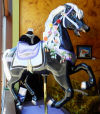 Carousel art exhibited at Venus Rising Espresso House