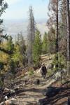 Hiking up East Ridge