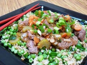 Quick, stir-fry beef dish gives even leftover rice a burst of flavor