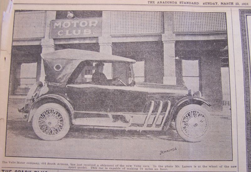 Mining City History Velie Motors Butte News