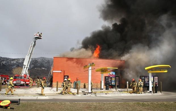 mcdonald u2019s restaurant burns