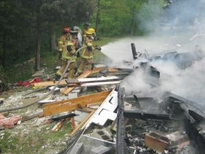House explosion northeast of Murray