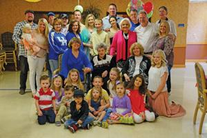<p>A total of five generations of 100-year-old Nadine Copus' were present at her birthday party Saturday at Spring Creek Health Care Nursing and Rehabiliation Center Saturday.</p>