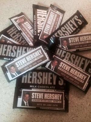Chocolate company sues senator