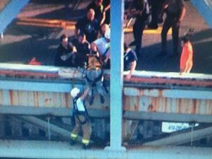 Man rescued from Bay Bridge