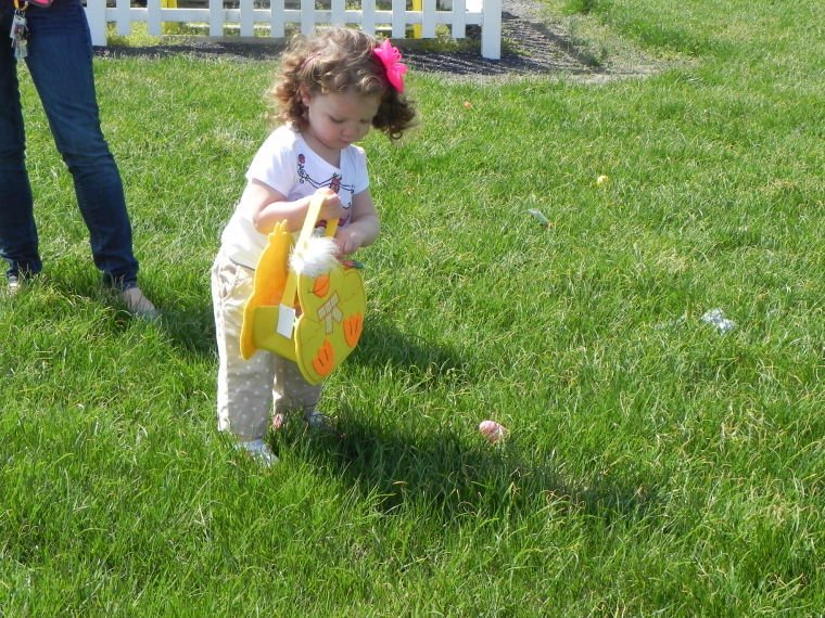 Carefully hunting Easter eggs