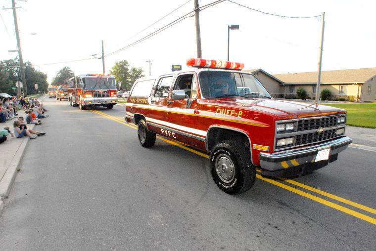Preston folks parade for the fire company