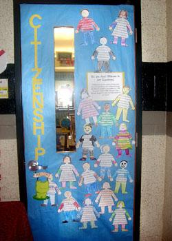 Ces holds character door decorating contest queen annes county