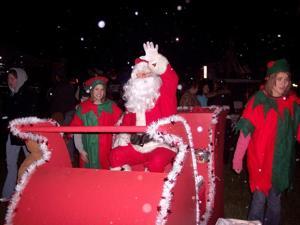 Santa Claus will appear in Caroline parades
