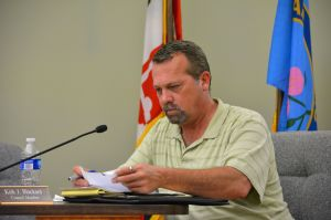 <p>Galena Councilman Kirk Blackard, shown here at a Monday, May 4 meeting, is not running for re-election this year. He cited the growing demands of his job as his reason for not running.</p>