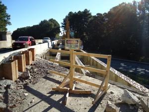 Route 50 bridge under construction