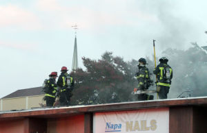 Fire damages Second Street businesses