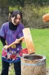 Japanese new year celebration in Napa making mochi
