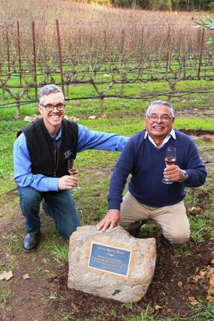 Longtime Schramsberg employee gets vineyard block dedicated to him