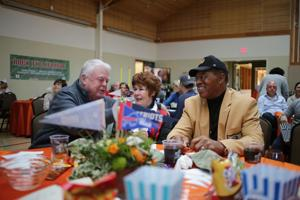 NFL stars of past share Super Bowl with fans of present