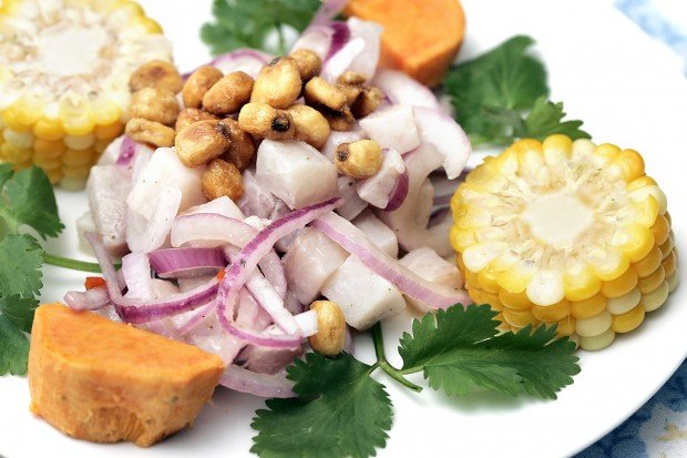 ... ceviche with corn, sweet potato and corn nuts. J.L. Sousa/Register