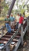 New stairway for Bale Grist Mill