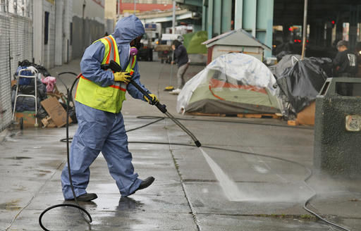 City Begins Sweeping Out Homeless Camp In San Francisco