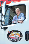 Crane operator Cindy Beckwith does the heavy lifting in Napa