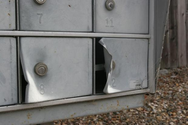 Vandalized mailboxes in American Canyon