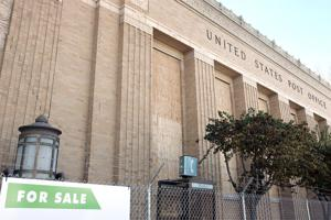 Damaged downtown Napa post office listed for sale