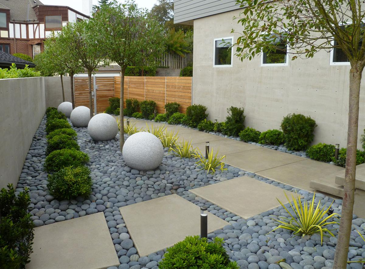 Rock to the rescue the ultimate in low maintenance water for Low maintenance lawn design