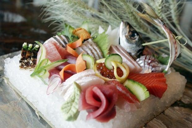 napa ingi downtown napa morimoto napa valley eats assorted sashimi