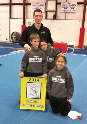 Gymnastics Zone boys end season in San Luis Obispo