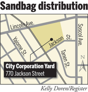 Despite dry spell, city giving away sandbags