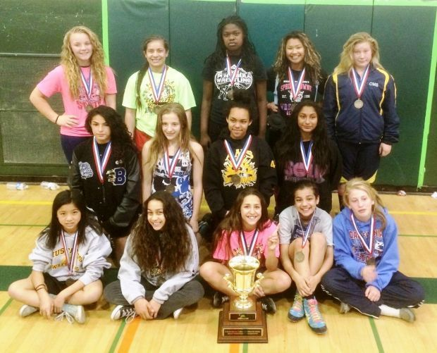 All-State Middle School Girls Wrestling Team