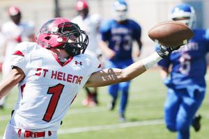Saints set tone early in rout of Mustangs
