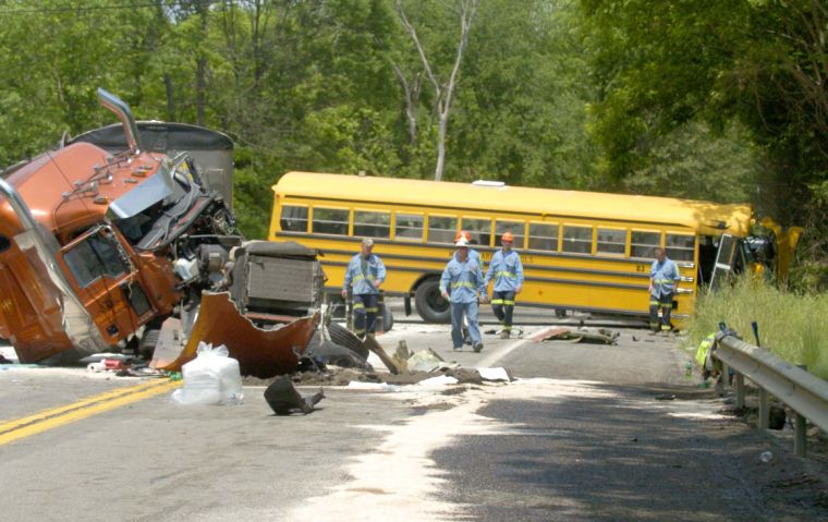 Photo Gallery Cleanup From Bus Truck Crash
