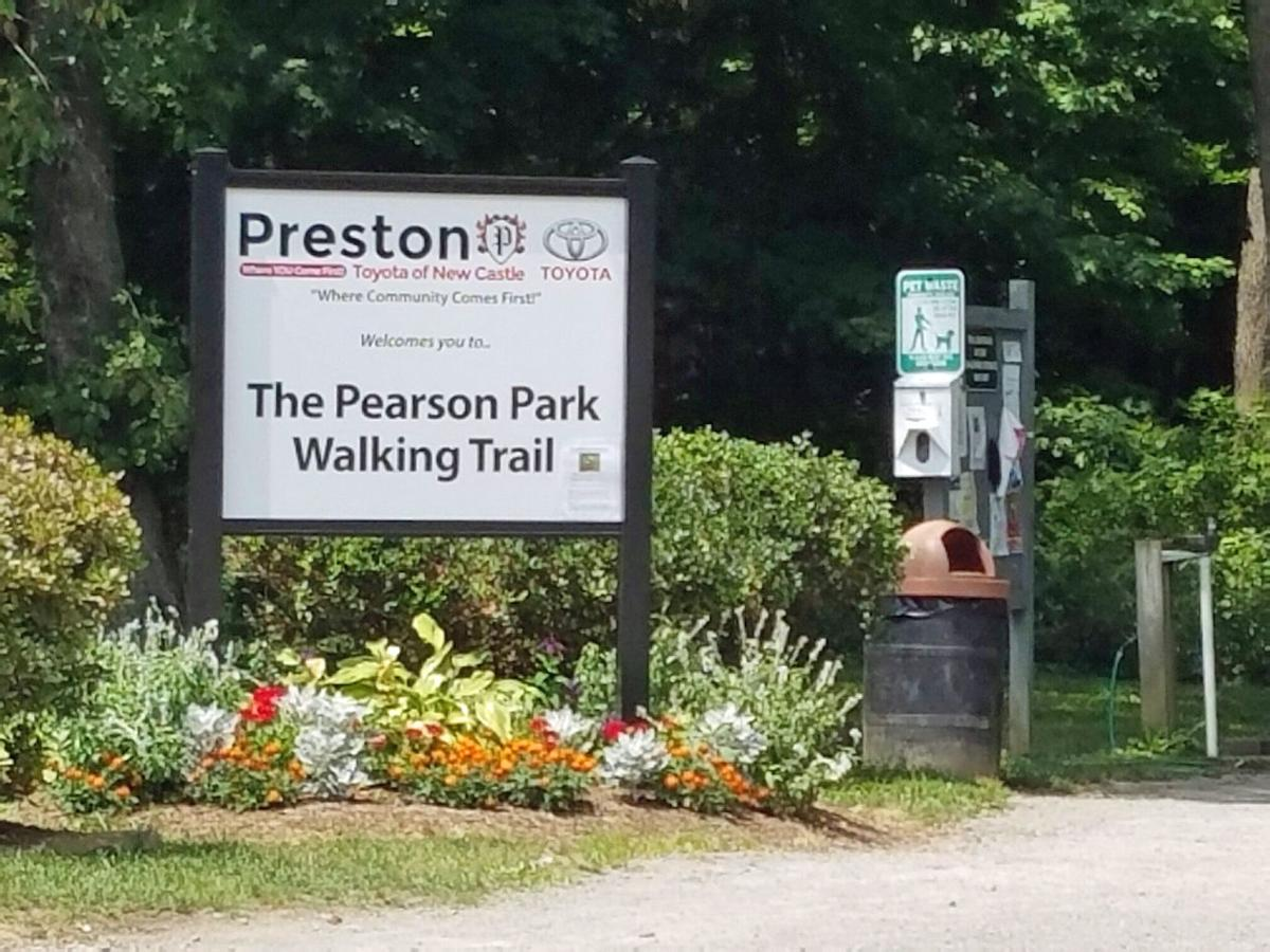 Pearson park walking and running the trails have many for Preston motors new castle