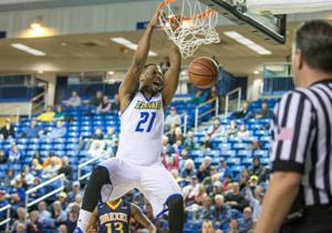<p>Marvin King-Davis led the Blue Hens with a game-high 23 points.</p>
