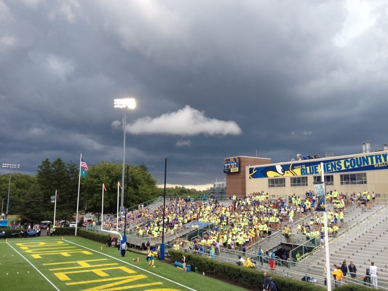Storm clouds raging