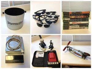 Jägermeister bucket, Yahtzee game, Razor scooter among menagerie of seized items up for auction