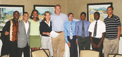 Platinum Minds students honored along with donor