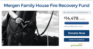 <p>A screenshot of the GoFundMe account set up for the Mergen Family.</p>