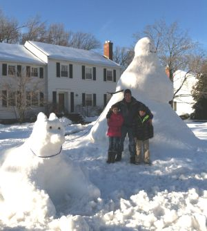 The giant snowman of North Caldwell