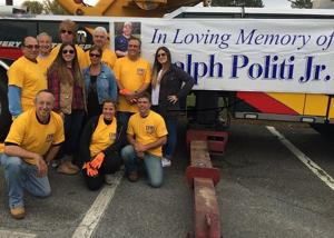 """<p>Saturday's One Day One School event was held to honor the memory of East Hanover resident Ralph Politi Jr., who died in 2012. Bottom row, from left, are Hanover Township Council Deputy Mayor Frank DeMaio and fellow Council members Carolyn Jandoli and Michael Martorelli. Middle row, from left, are East Hanover Mayor Joseph Pannullo, Danielle Politi, Rosemarie Politi, Paul Lombardino and Dana Politi. Back row, from left, are Ralph Politi Sr., event organizer and Hanover Township Committeeman Thomas """"Ace"""" Gallagher and former Hanover Township Committeman Ken Schleifer.</p>"""