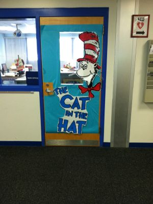"<p>Mt. Horeb celebrate Read Across America Week by decorating its doors based on children's book.  The office door is ""Cat In The Hat""</p>"