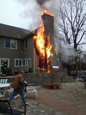 A Sign Of Winter Chimney Fire In Chester Township New